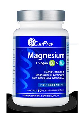 Magnesium + Vegan D3 & K2